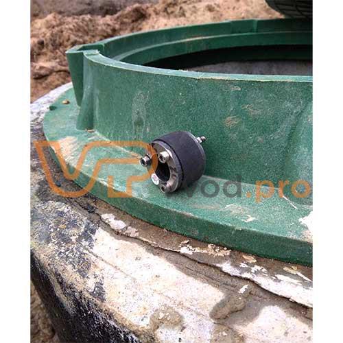 Уплотнительная-вставка ВМТ С 45/20/20 для надежной герметизации ввода или вывода трубы из колодца с питьевой водой.