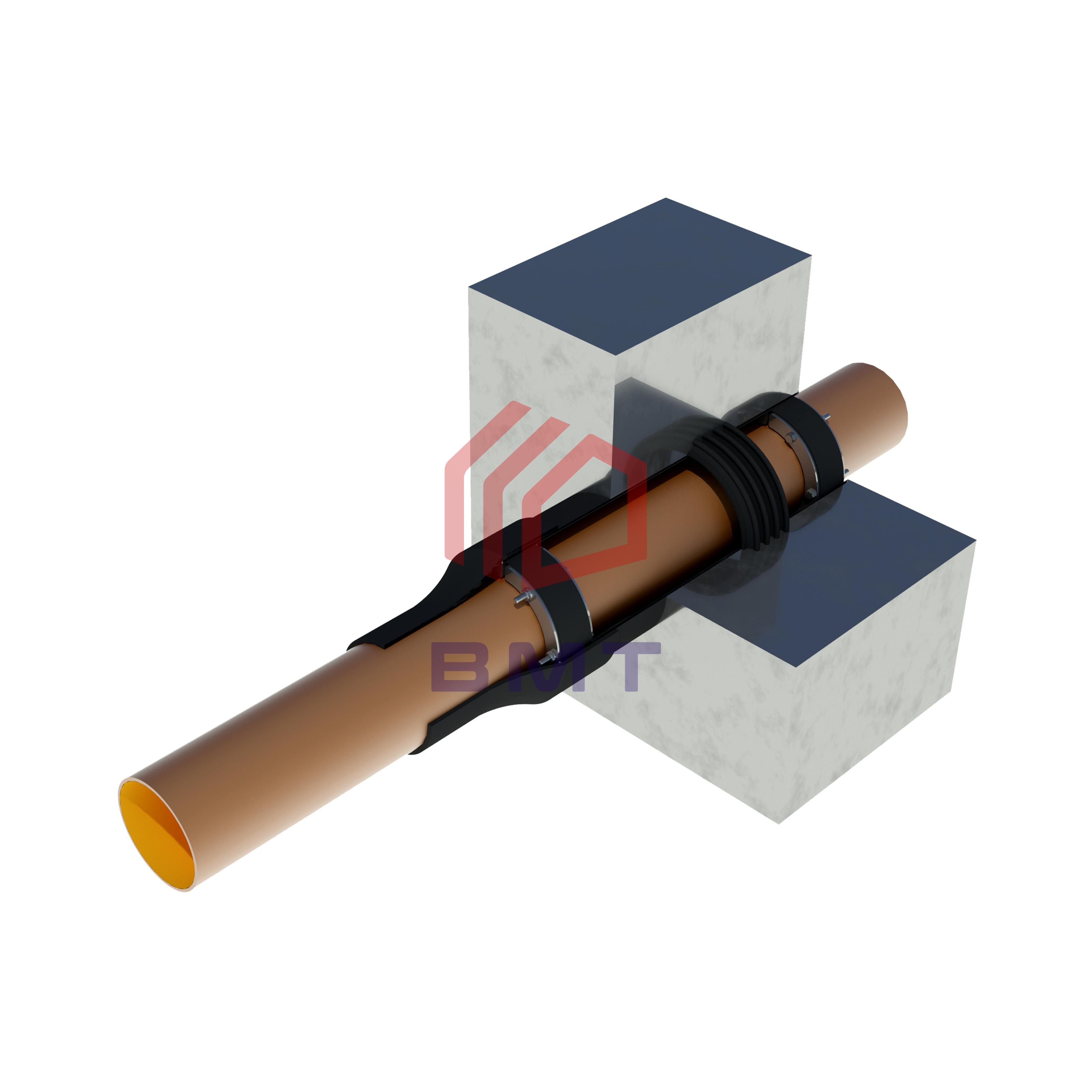 Герметизация ввода ПВХ трубы в здание