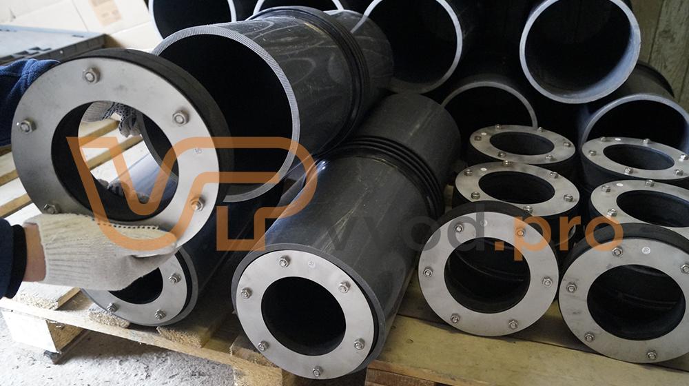 Уплотнительные вставки ВМТ предназначены для герметизации вводов труб и кабелей.