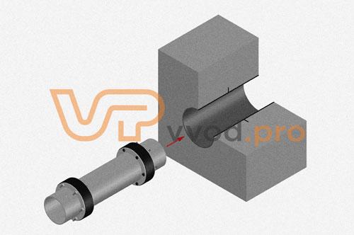 Узел с закланой трубой в стене - закладная деталь узла герметизации ввода инженерных коммуникаций.