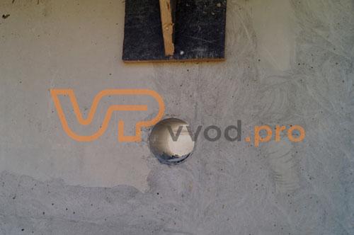 Гидрогильза ВМТ в стене - закладная деталь узла герметизации ввода инженерных коммуникаций.